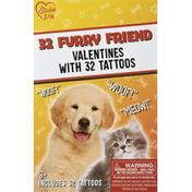 Studio 2/14 Tattoos, Valentines, Furry Friend, 3+