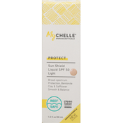 MyCHELLE Sun Shield Liquid, Light, Protect, SPF 50