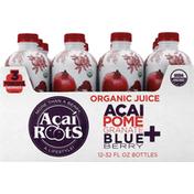 Acai Roots Juice, Organic, Acai + Pomegranate Blueberry