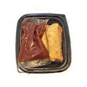 Carry Out Cafe Pizza Logs With Sauce