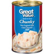 Great Value Chunky New England Style Clam Chowder Soup