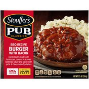 Stouffer's Pub Classics BBQ Recipe Burger with Bacon Frozen Meal
