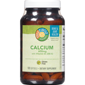 Full Circle Calcium 600 Mg With Vitamin D3 200 Iu Supports Strong Bones & Teeth Dietary Supplement Softgels
