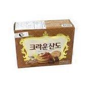 Sando Choco Vanilla Korean Chocolate Biscuit Wafer Cracker