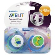 Avent Pacifier, 6-18m, Fashion, Blister Pack
