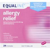 Equaline Allergy Relief, 25 mg, Minitabs