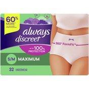 Always Discreet Underwear S/M