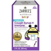 Zarbee's Naturals Baby Complete Cough Syrup + Immune, Natural Berry Flavor