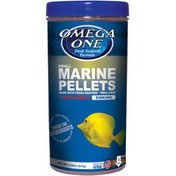 Omega One 8.25 Ounce Marine Pellet Garlic Fish Food