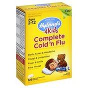Hyland's Cold 'n Flu, Complete, 4Kids, Quick-Dissolving Tablets