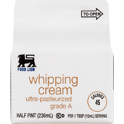Food Lion Whipping Cream, Ultra-Pasteurized, Box