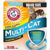 Arm & Hammer Unscented Multi-Cat Superior Odor Control Clumping Cat Litter, Extra Strength