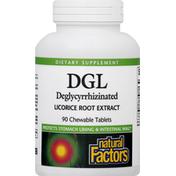 Natural Factors Deglycyrrhizinated, Chewable Tablets