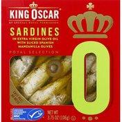 King Oscar Sardines, In Extra Virgin Olive Oil, 0