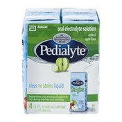 Pedialyte Oral Electrolyte Solution Apple - 4 CT