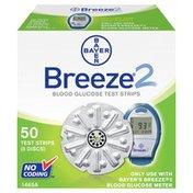 Bayer Breeze 2, Blood Glucose Test Strips, 5 Disc Pack, Box