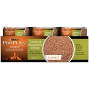 Pro Plan Cat Wet Savor Adult Turkey & Vegetable Entree Classic Cat Food