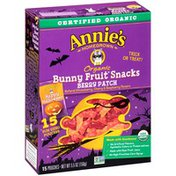 Annie's Organic Bunny Fruit Snacks Berry Patch Fruit Snacks