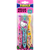 Firefly Toothbrushes, Hello Kitty, Soft, 3 Pack