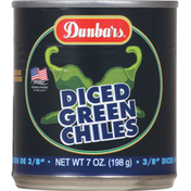 Dunbars Green Chiles, Diced