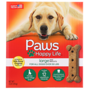 Paws Happy Life Meaty Taste Large Dog Biscuits For All Dogs Over 50 Lbs