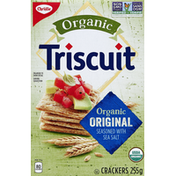 Triscuit Crackers, Organic, Seasoned with Sea Salt, Original