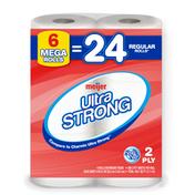 Meijer Ultra Strong Bath Tissue, 6 Mega Rolls