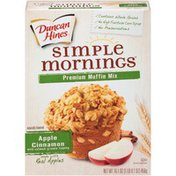 Duncan Hines Simple Mornings Apple Cinnamon with Oatmeal Granola Topping Premium Muffin Mix