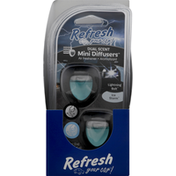 Refresh Your Car Diffusers, Dual Scent, Ice Storm, Mini