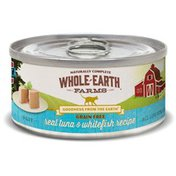 Whole Earth Farms Grain Free Real Tuna & Whitefish Recipe Natural Food For Cats With Added Vitamins + Minerals