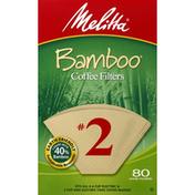 Melitta Coffee Filters, Bamboo, No. 2
