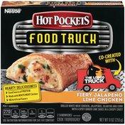 Hot Pockets Fiery Jalapeno Lime Chicken Frozen Sandwiches