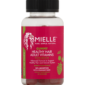 Mielle Healthy Hair Vitamins, with Biotin, Adult, Gummy, Berry Flavored