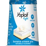 Yoplait Yogurt, Fat Free, Banana Cream Pie