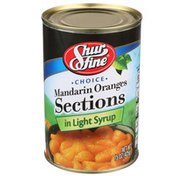 Shurfine Choice Mandarin Oranges Sections In Light Syrup
