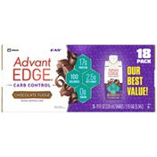 EAS Carb Control Chocolate Fudge EAS AdvantEDGE Carb Control Protein Shake Chocolate Fudge Ready-to-Drink Bottles