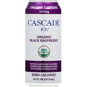Cascade Ice Sparkling Water, Organic, Black Raspberry, Caffeinated