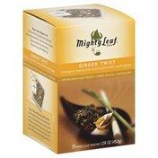 Mighty Leaf Tea, Ginger Twist, Caffeine Free, Box