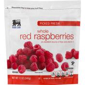Food Lion Raspberries, Red, Whole, Picked Fresh, Pouch