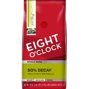 Eight O'Clock Coffee 50% Decaf Whole Bean Coffee