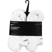 Nike Youth Performance Cushioned No-Show Training Socks – 6 Pack - M - White/Black