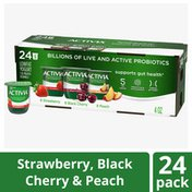 Activia Strawberry, Black Cherry & Peach Probiotic Lowfat Yogurt