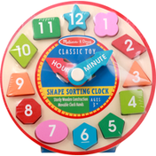 Melissa & Doug Shape Sorting Clock, Classic Toy, Ages 3+
