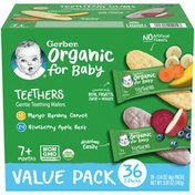 Gerber Organic for Baby Teethers Mango Banana Carrot & Blueberry Apple Beet Baby Snacks