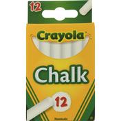 Crayola Chalk Sticks, White, Nontoxic