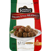 Cooked Perfect Bite Size Flame Broiled  Meatballs Italian Style - 52 CT