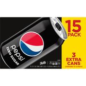 Pepsi Cola, Zero Sugar, 15 Pack