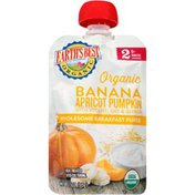Earth's Best Stage 2 Banana Apricot Pumpkin with Yogurt, Oat & Quinoa Organic Wholesome Breakfast Puree