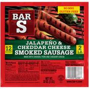 Bar-S Jalapeño & Cheddar Cheese Smoked Sausage