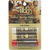 Sun Bum Sunscreen Lip Balm, Broad Spectrum SPF 30, 3 Pack